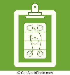 Game plan icon green