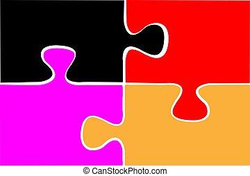 Game Puzzle Icon Design Illustration