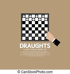 game., scacchiera, o, tiri abbordano