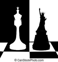 game., staat, concept, politiek, verenigd