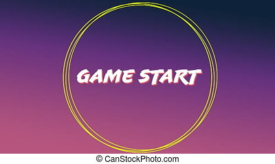 Game start sign for an arcade game