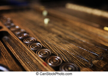 game table handmade dice and backgammon Gambling