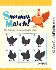 Game template for matching chicken