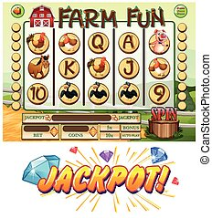 Game template with farm animals