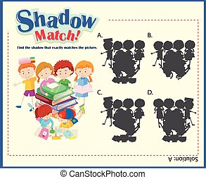 Game template with shadow matching children