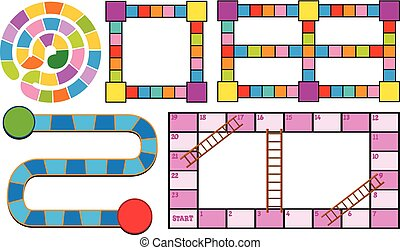 Game templates in different colors