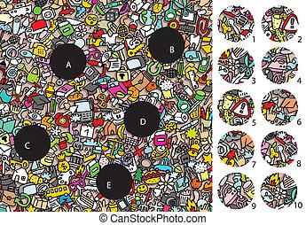 game., visuale, objects:, soluzione, pezzi, layer!, nascosto, fiammifero