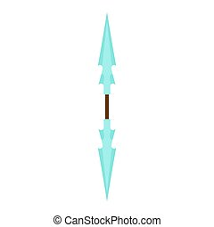 Game weapon vector icon sword cartoon fantasy medieval rpg war. Design illustration knife isolated military