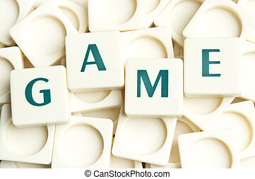 Game word made by leter pieces