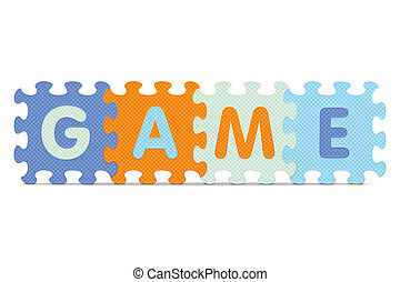 GAME written with alphabet puzzle