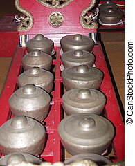 Gamelan instrument - Java, gamelan instrument, horizontal ...