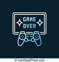 gamepad, カラフルである, tv, 上に, -, ゲーム, ベクトル, 線, シンボル, アイコン
