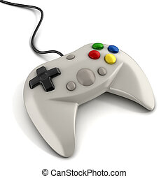 gamepad, 3d, ikona