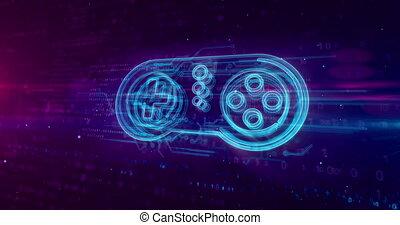 Gamepad controller hologram concept - Retro gamepad...