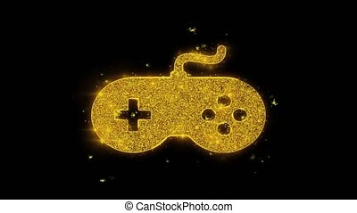 Gamepad Game Controller joystick Icon Sparks Particles on ...