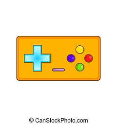Gamepad icon, cartoon style - Gamepad icon. Cartoon...