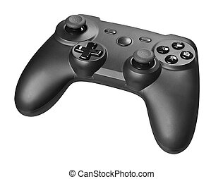Gamepad isolated on a white background with clipping path