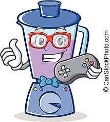 Gamer blender character cartoon style