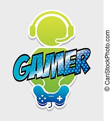 gamer icon design, vector illustration eps10 graphic