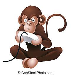 Gamer monkey mascot