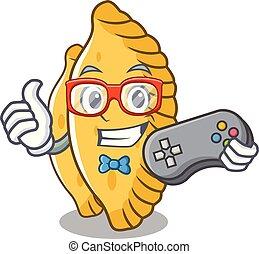 Gamer pastel mascot cartoon style vector illustration