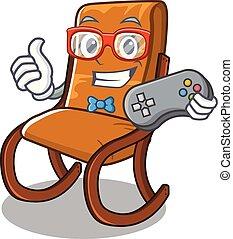 Gamer rocking chair in the cartoon shape