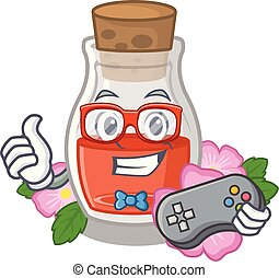Gamer rose seed oil the cartoon shape