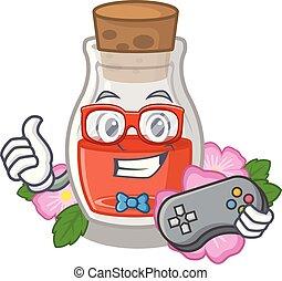 Gamer rose seed oil the cartoon shape
