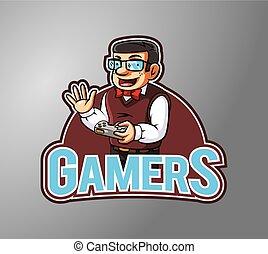 Gamers Illustration design badge
