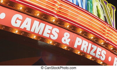 GAMES and PRIZES sign. - Sign that says %u201CGAMES &...