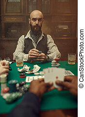games, cards, мужской, шанс, руки, покер