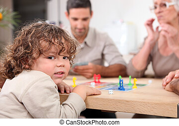 games., jouer, famille, planche