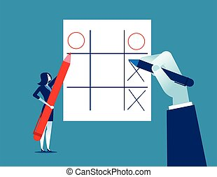 games., ozio, concetto, illustration., vettore, affari, donna d'affari