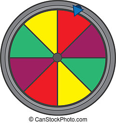 Gameshow Wheel  - Isolated colorful game show wheel