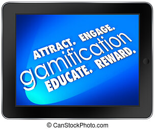 Gamification Tablet Computer Attract Engage Educate Retain ...