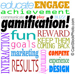 Gamification Words Interaction Education Engagement...