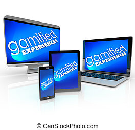 Gamified Experience Computer Laptop Desktop Phone Tablet Gamific