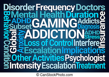 Gaming Addiction Word Cloud