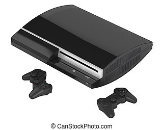 Gaming console and joysticks for playing video games...