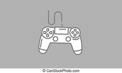 Gaming Controller line icon is one of the Devices icon set. File contains alpha channel. From 2 to 6 seconds - loop.