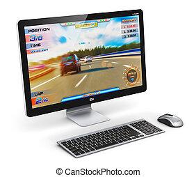 Gaming desktop computer - Creative abstract computer gaming...