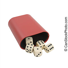 Gaming Dice Over White Background
