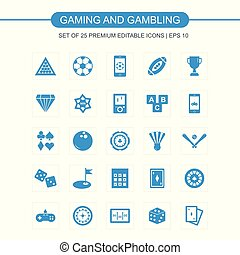 Gaming icons set vector