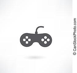 Gaming Joystick Icon Isolated on White Background