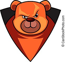 Gaming logo of a bear illustration vector on white background
