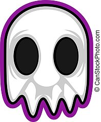 Gaming logo of a ghost illustration vector on white background