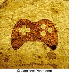 gaming, raum, taste, modern, text., wohnung, joystick., web,...