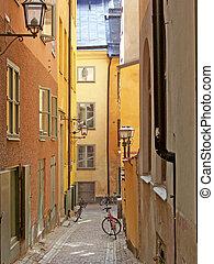 gamlastan, rue, stockholm, 07