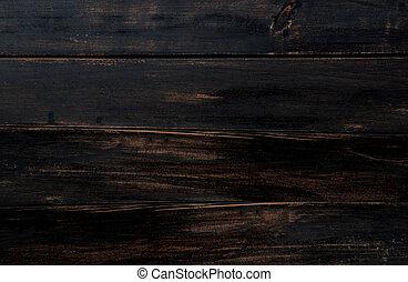 gamle, arealet, text., tekstur, mørke, træ, baggrund