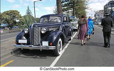 gamle, automobilen